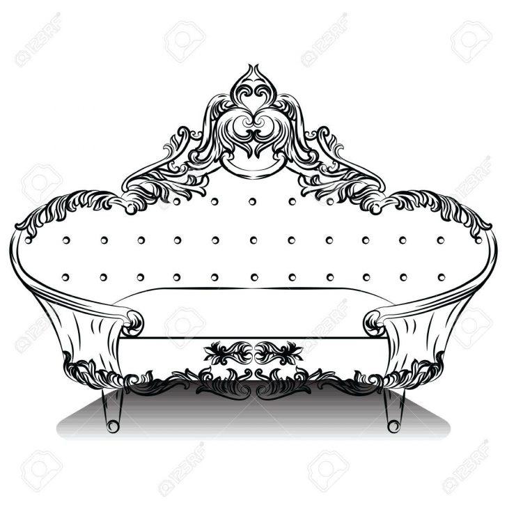 Medium Size of Luxury Barock Sofa Mit Luxurisen Verzierungen Elegante Groß Big Grau Rotes 2 Sitzer Relaxfunktion Marken Chesterfield Hussen Rattan überwurf Sofa Barock Sofa