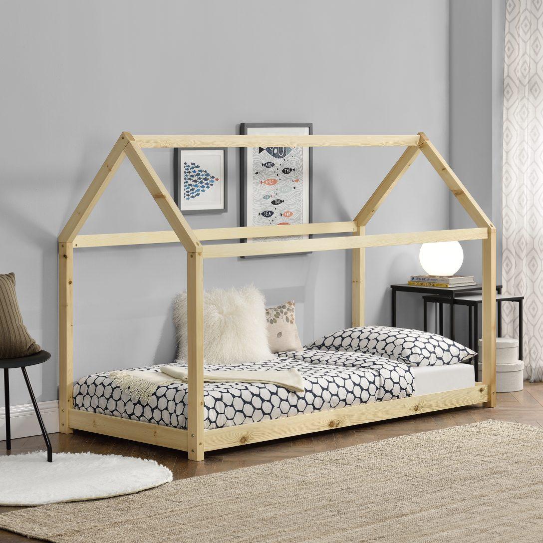 Large Size of Kinderbett Matratze 90x200cm Haus Holz Wei Bettenhaus Hausbett Betten Bei Ikea Kopfteile Für Alu Fenster Innocent Ebay 180x200 Holzbrett Küche Breckle Bett Betten Holz