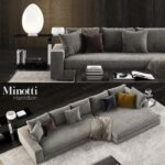 Minotti Sofa India Hamilton For Sale Freeman Dimensions Alexander Cost Sleeper Bed Indiana Used Seating System Uk Lawrence 2 3d Modell Turbosquid 1243062 Sofa Minotti Sofa