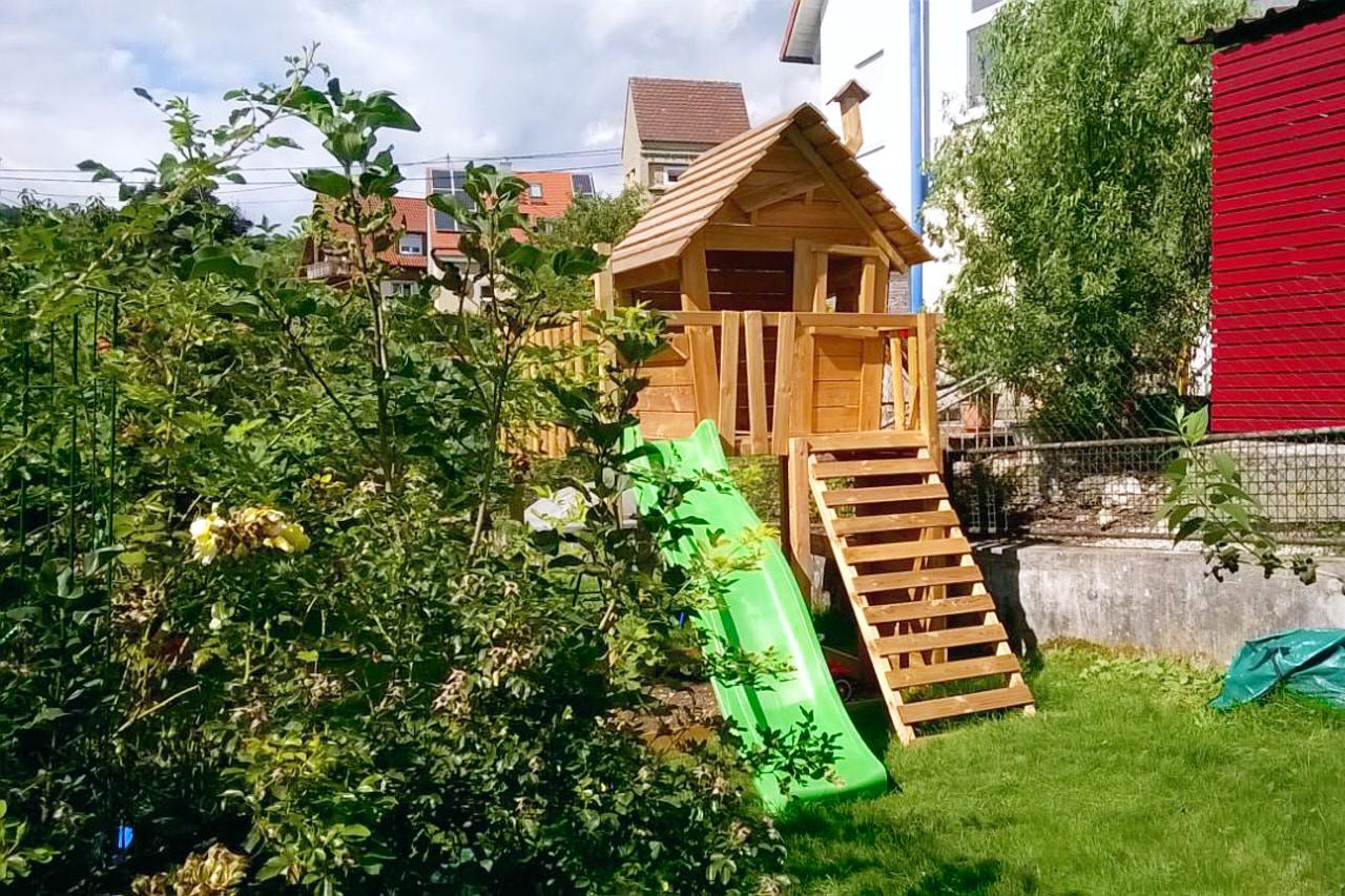 Full Size of Fatmoose Spielturm Von Wickey Mit Rutsche Aufbau In Unserem Garten Edelstahl Holzhaus Holzbank Kugelleuchten Ecksofa Rattan Sofa Hängesessel Garten Spielgerät Garten