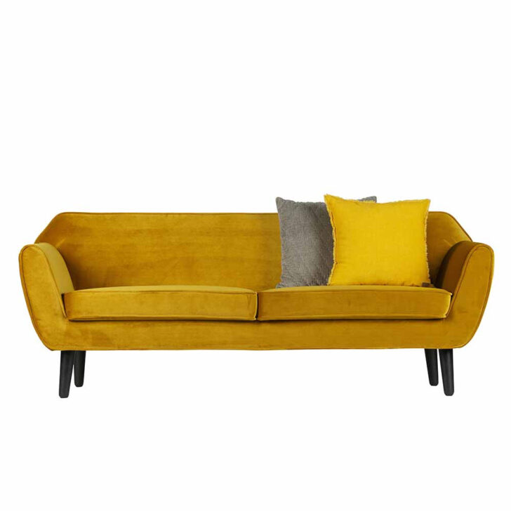 Medium Size of Sofa Samt Couch Tambora In Gelb Im Retro Design Pharao24de Zweisitzer Delife Home Affair Blau Günstig Tom Tailor Terassen Langes Impressionen Halbrundes Sofa Sofa Samt