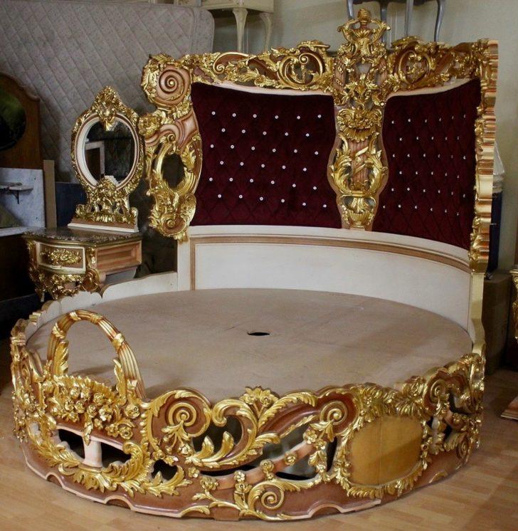 Bett Barock Rokoko Doppelbett Rund Gold Mkbd2000 Antik Stil Betten Test Prinzessinen Mit Schubladen 90x200 Weiß Bettkasten Unterbett Stauraum 160x200 140 X Bett Bett Barock