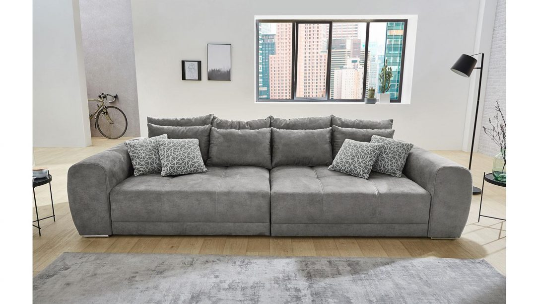 Large Size of Big Sofa Xxl Moldau Couch In Microfaser Grau Mit Kissen Blaues Led Zweisitzer L Schlaffunktion Englisches Kare U Form Ebay Leder Groß Halbrund Relaxfunktion Sofa Big Sofa Xxl