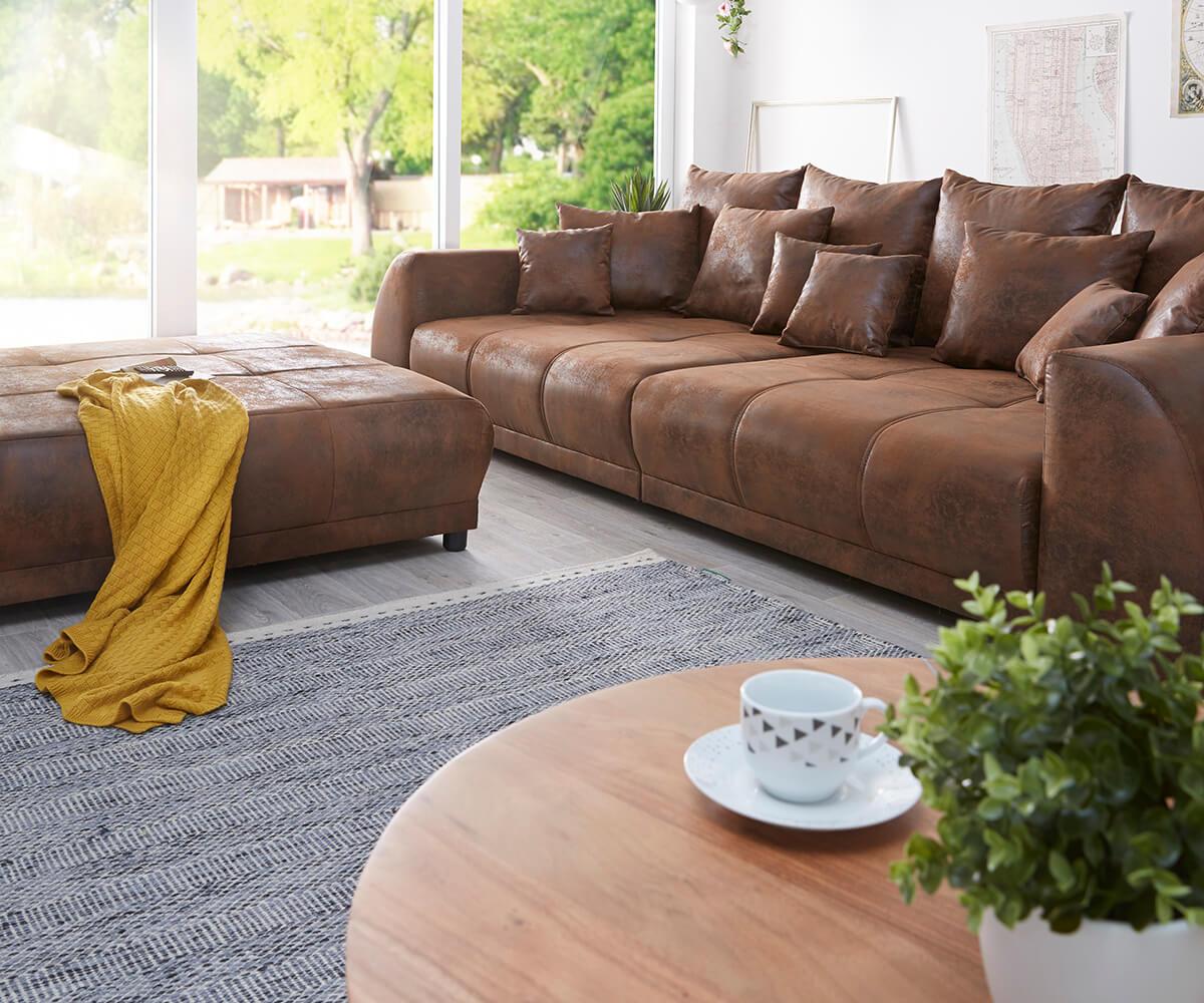 Full Size of Big Sofa Braun Violetta 310x135 Antik Optik Hocker Kissen Mbel überwurf U Form Schillig Ektorp Delife Kolonialstil Elektrisch Chesterfield Grau W Aus Sofa Big Sofa Braun