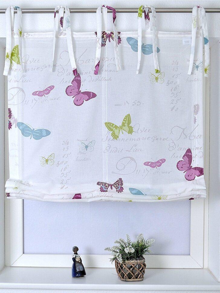 Medium Size of Raffrollo Kinderzimmer Schmetterling Mit Bindebndern Roma Regal Sofa Regale Küche Weiß Kinderzimmer Raffrollo Kinderzimmer