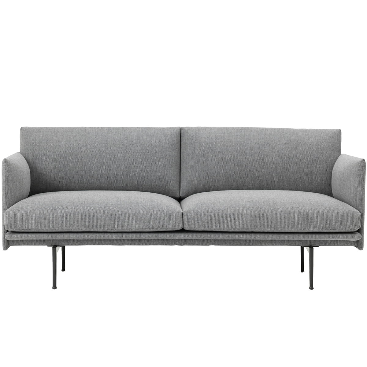 Full Size of Sofa Stoff Grau Outline 2 Sitzer Von Muuto Connoshop Indomo Weißes Flexform Schlaf überzug Big Braun Bezug Ecksofa L Mit Schlaffunktion Relaxfunktion Sofa Sofa Stoff Grau