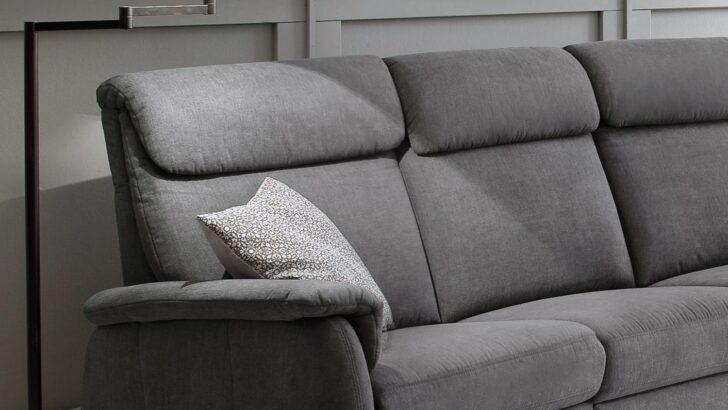 Medium Size of Sofa Mit Relaxfunktion 3 Sitzer Preston Stoff Stone Grau Federkern 222 Cm Abnehmbaren Bezug 3er Jugendzimmer Leder Verstellbarer Sitztiefe Bett 140x200 Sofa Sofa Mit Relaxfunktion 3 Sitzer