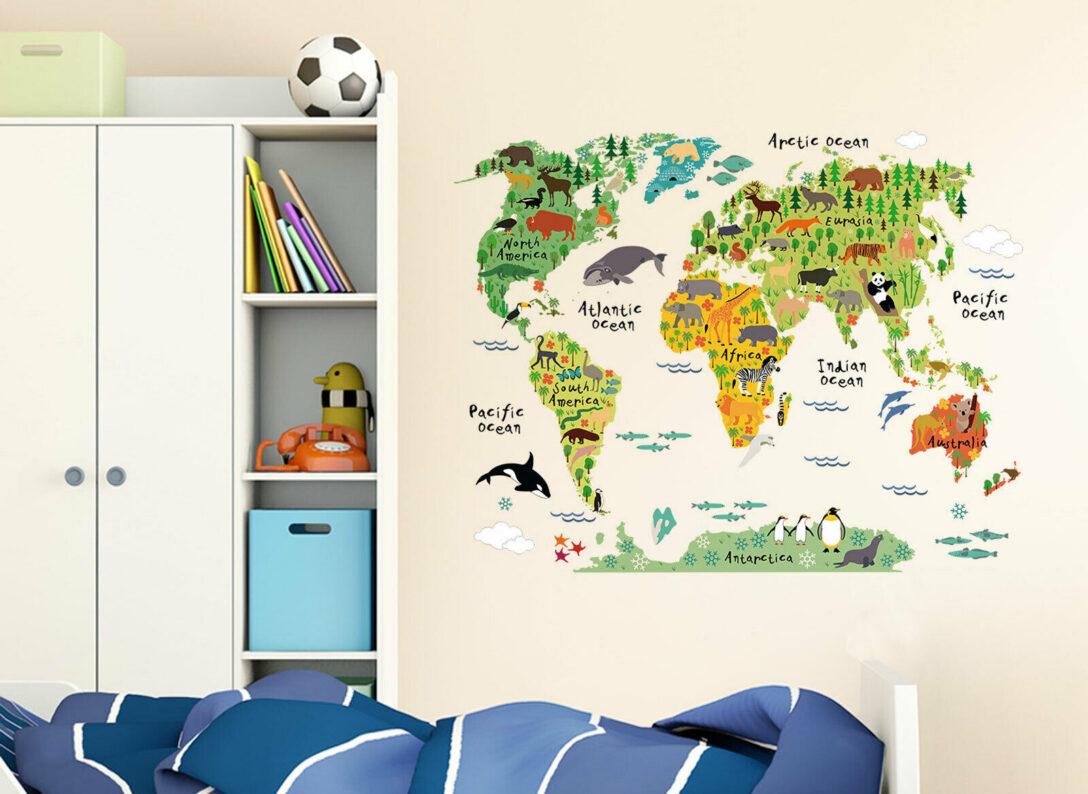 Large Size of Wandtattoo Wandsticker Wandaufkleber Kinderzimmer Weltkarte Xxl Regal Weiß Regale Sofa Kinderzimmer Wandaufkleber Kinderzimmer