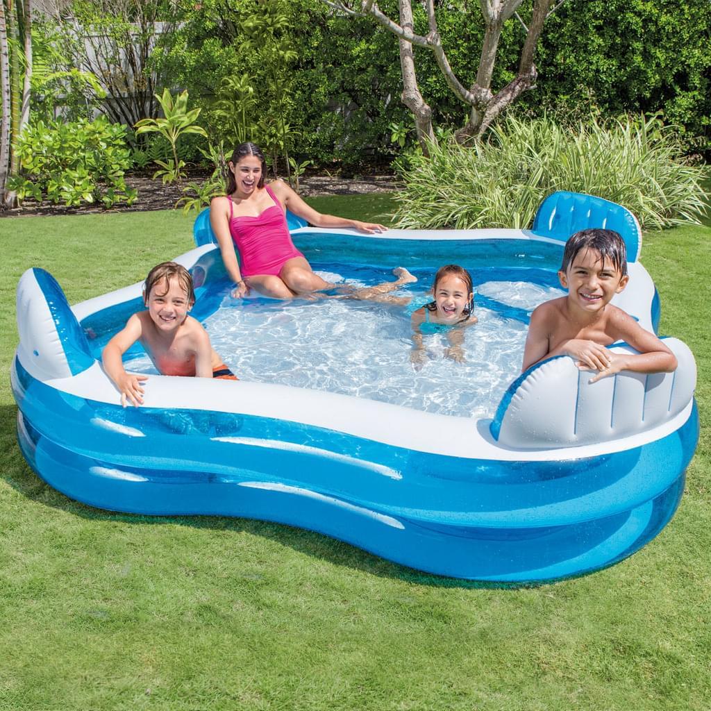 Full Size of Mini Pool Garten Inteplanschbecken Family Lounge 229x229x66 Cm Real Liegestuhl Spielturm Loungemöbel Pavillon Kinderhaus Zaun Rattanmöbel Ecksofa Garten Mini Pool Garten