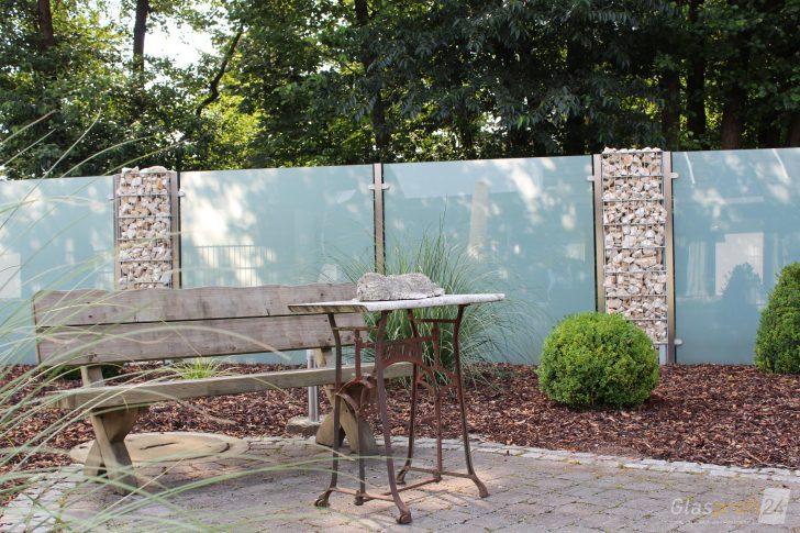 Medium Size of Sichtschutz Garten Aus Glas Fr Den Glasprofi24 Sitzgruppe Holzhaus Vertikal Lounge Sessel Lärmschutz Tisch Spielhaus Bewässerungssysteme Klettergerüst Garten Sichtschutz Garten