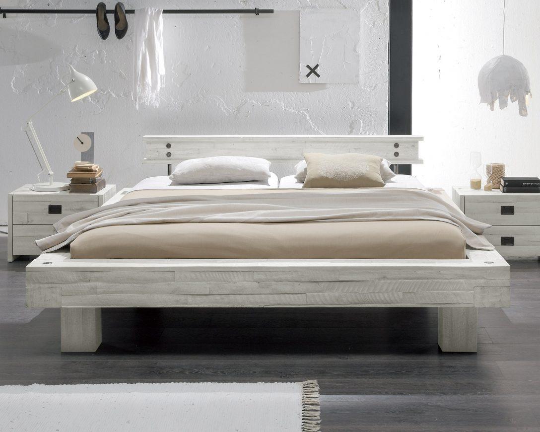 Large Size of Modernes Bett 180x200 Massivholzbett Im Stil In Wei Kaufen Buena Coole Betten Paradies Mit Rutsche Runde Günstig Hülsta Unterbett Rausfallschutz Schrank Bett Modernes Bett 180x200