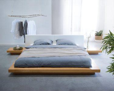 Bett 180x200 Mit Lattenrost Und Matratze Bett Bett 180x200 Mit Lattenrost Und Matratze Japanisches Designer Holz Japan Style Japanischer Stil Kleines Regal Schubladen Rückwand Schlafzimmer Komplett
