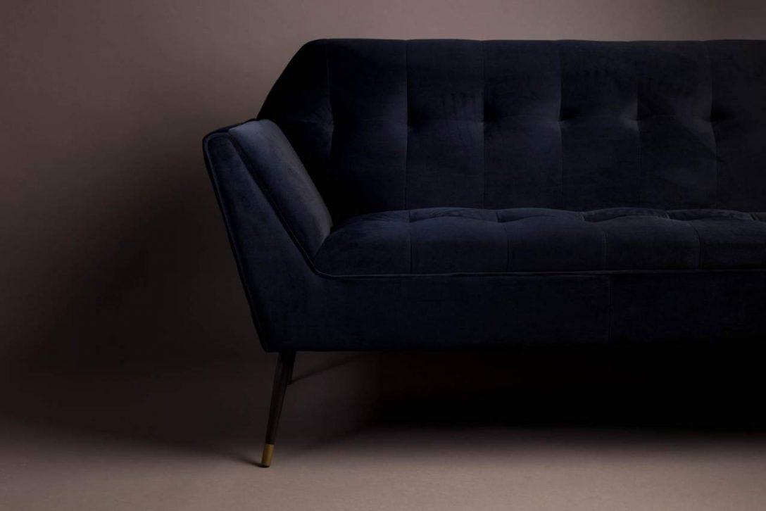 Large Size of 2 Sitzer Sofa Kate Deep Blue Samt Von Dutchbone Bett 160x200 Komplett Lounge Garten Gelb 90x200 Mit Lattenrost Und Matratze Wildleder Schlafsofa Liegefläche Sofa 2 Sitzer Sofa