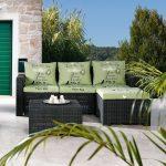 Loungemöbel Garten Garten Rattan 5 Sitzer Gartenlounge Rigosa Sichtschutz Garten Lounge Sessel Klapptisch Spielturm Kletterturm Wassertank Bewässerungssysteme Test Set überdachung