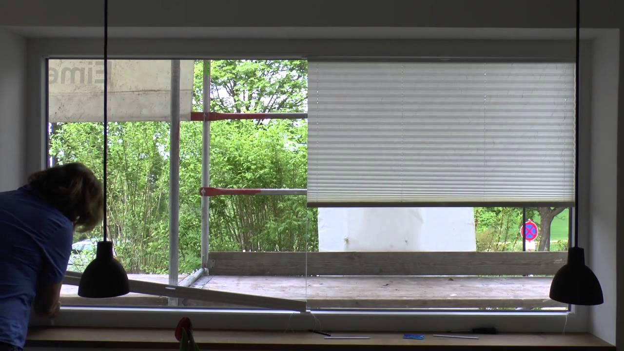 Full Size of Plissee Fenster Ins Klemmen Ausmessen Innen Ikea Rollo Montieren Montage Zum Amazon Soluna Montageanleitung Plissees Im Schnelldurchlauf An Einem Sehr Breiten Fenster Plissee Fenster