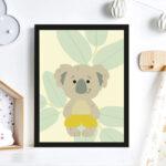 Print Illustration Kinderzimmer Poster Koala Wanddeko Sofa Glasbilder Bad Regal Wohnzimmer Bilder Xxl Moderne Fürs Küche Weiß Regale Wandbilder Schlafzimmer Kinderzimmer Bilder Kinderzimmer