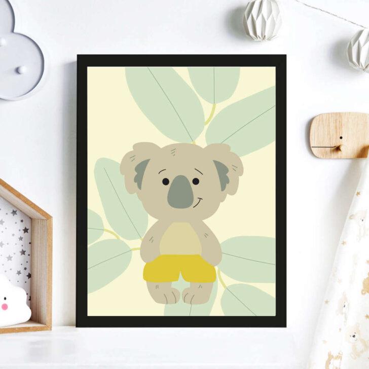 Medium Size of Print Illustration Kinderzimmer Poster Koala Wanddeko Sofa Glasbilder Bad Regal Wohnzimmer Bilder Xxl Moderne Fürs Küche Weiß Regale Wandbilder Schlafzimmer Kinderzimmer Bilder Kinderzimmer