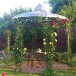 Garten Pavillion Pavillon 3x3 Holz / Metallpavillon Sun Antik Kupfer Look Luxus Rund Rundes Dach Metall Wetterfest Gartenpavillon Aus Glas Baugenehmigung Eisen Garten Garten Pavillion