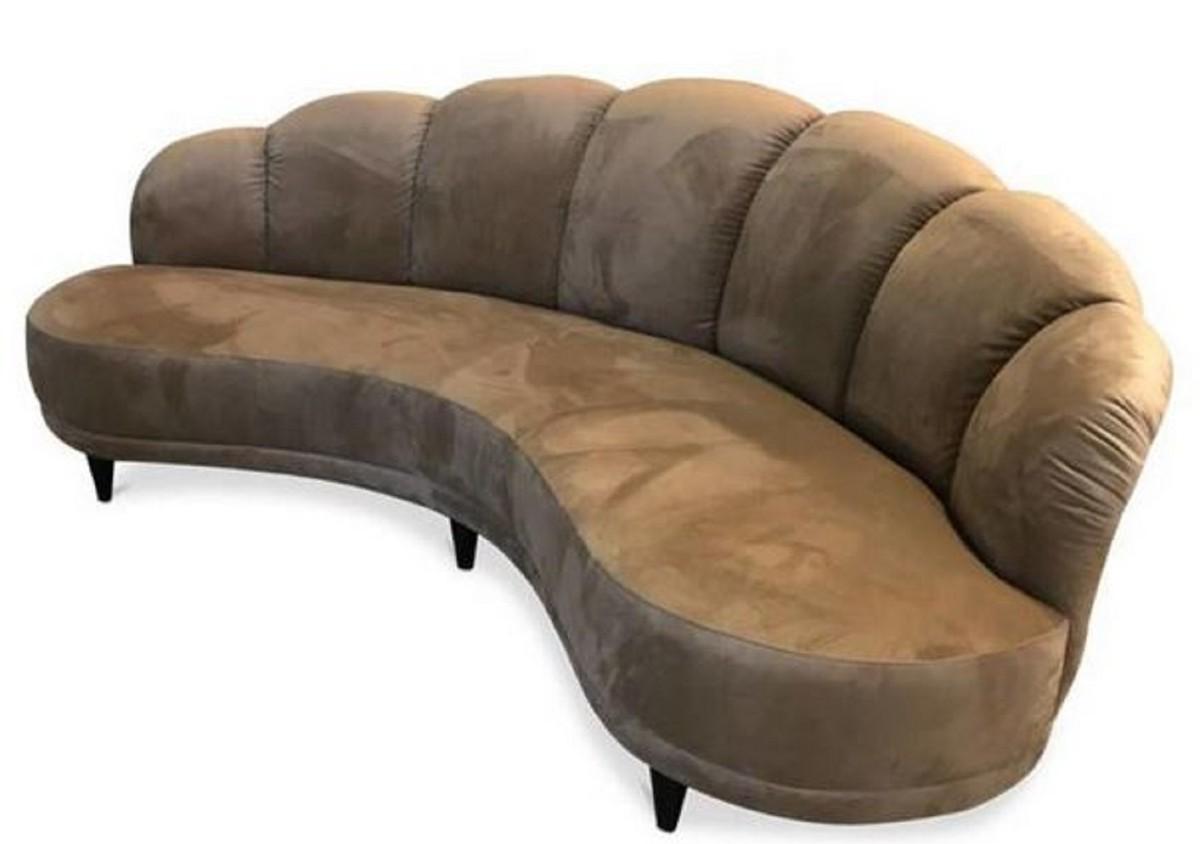 Full Size of Halbrundes Sofa Ebay Big Im Klassischen Stil Schwarz Halbrunde Couch Klein Samt Gebraucht Rot Ikea Casa Padrino Luxury Hazelnut Brown Black 231 124 H 85 Sofa Halbrundes Sofa