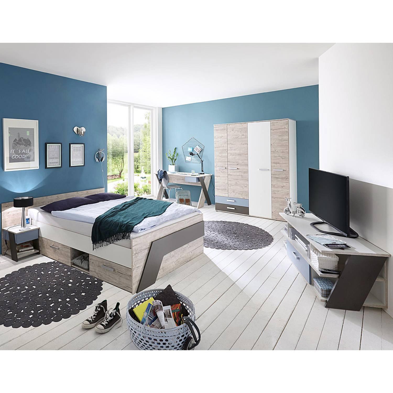 Full Size of Jugendzimmer Set Mit Bett 140x200 Cm 5 Teilig Kleiderschrank Leeds Betten 120x200 Für Teenager Jugend Ebay Aus Paletten Kaufen Tagesdecken überlänge 80x200 Bett Jugendzimmer Bett