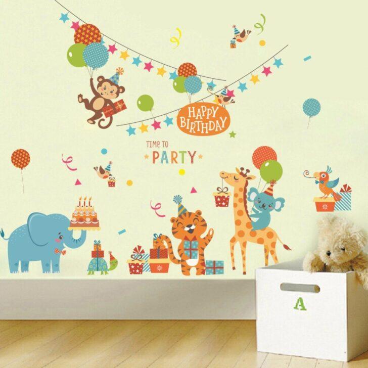 Medium Size of Cartoon Tiere Geburtstag Party Wandaufkleber Regal Weiß Sofa Regale Kinderzimmer Wandaufkleber Kinderzimmer