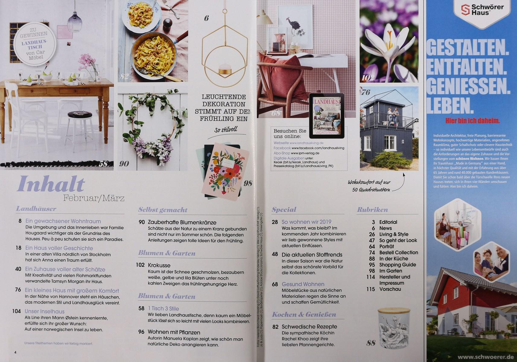 Full Size of Wohnen Und Garten Abo Landhaus Living 2 2019 Zeitungen Zeitschriften Online Sri Lanka Rundreise Baden Holzhaus Kind Rattenbekämpfung Im Bad Sanitär Garten Wohnen Und Garten Abo