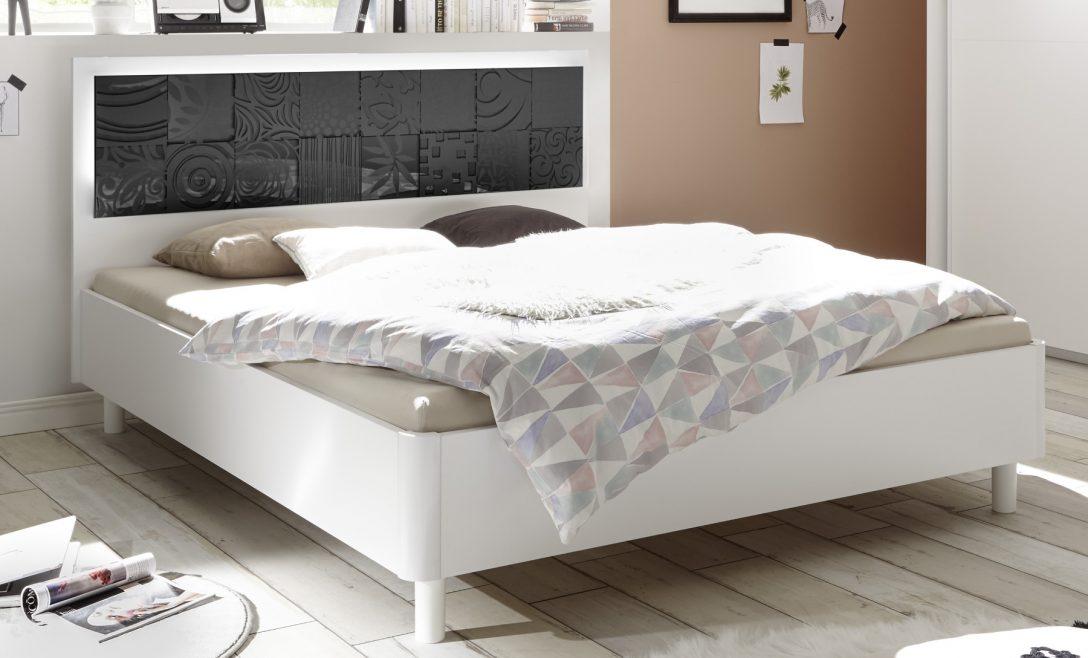 Doppelbett Weiss Matt Anthrazit Siebdruck Xaria27 Designermbel
