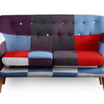 Sofa Patchwork Sofa Patchwork Corner Sofa Dfs Cover Bed Doll Couch Chesterfield 2 Seater Multi Coloured Ideal For Small Space U Form Xxl Big Günstig Antik Bezug Ecksofa Mit