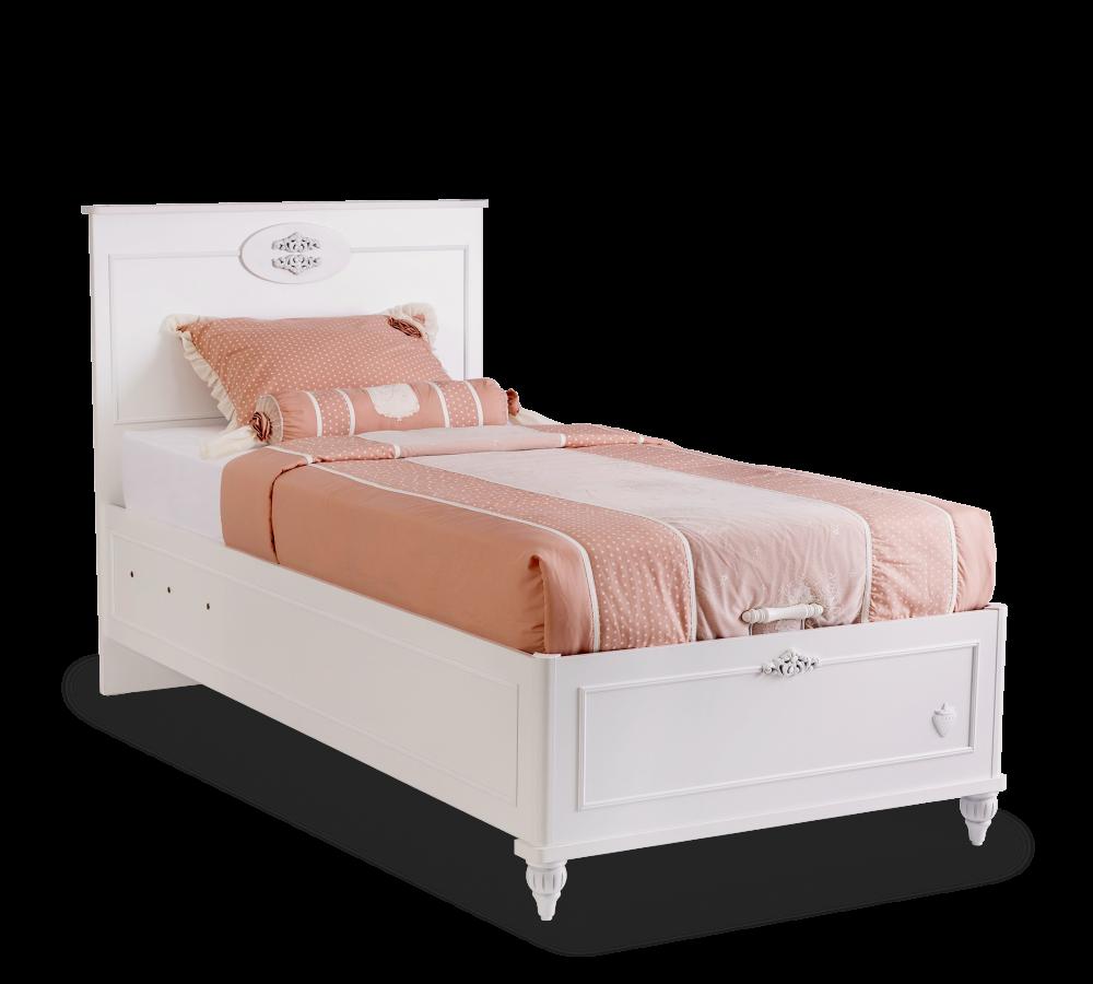 Full Size of Bett Weiß 100x200 Komfort Cilek Mit Bettkasten Romantica Cm Amerikanische Betten Schlafzimmer Kommode 90x200 Kleines Regal Hängeschrank Hochglanz Wohnzimmer Bett Bett Weiß 100x200
