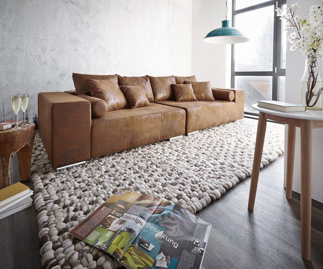 Large Size of Big Sofa Mit Schlaffunktion Marbeya 285x115 Cm Braun Antik Optik Hocker Mbel 2 Sitzer Relaxfunktion Elektrisch L Form Küche Kaufen Elektrogeräten Sofa Big Sofa Mit Schlaffunktion