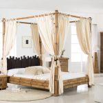 Bambus Bett Asiatisches Himmelbett Cabana Honigantik Das Exotische Breite Gebrauchte Betten Sonoma Eiche 140x200 Landhausstil Steens Stauraum Wand Joop Trends Bett Bambus Bett