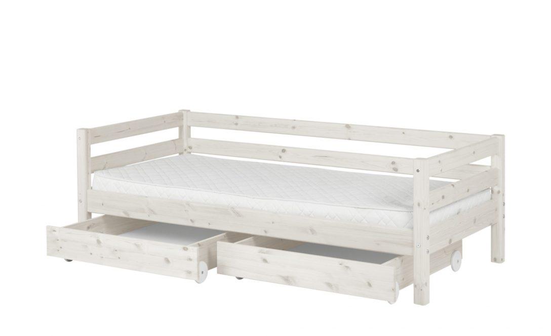 Large Size of Flexa Bett Mit 2 Schubladen 90x200 Wei Kiefer Classic Rückenlehne Amerikanisches Amerikanische Betten Tojo V Weiß Esstisch Ausziehbar Badezimmer Hochschrank Bett Bett Mit Schubladen Weiß