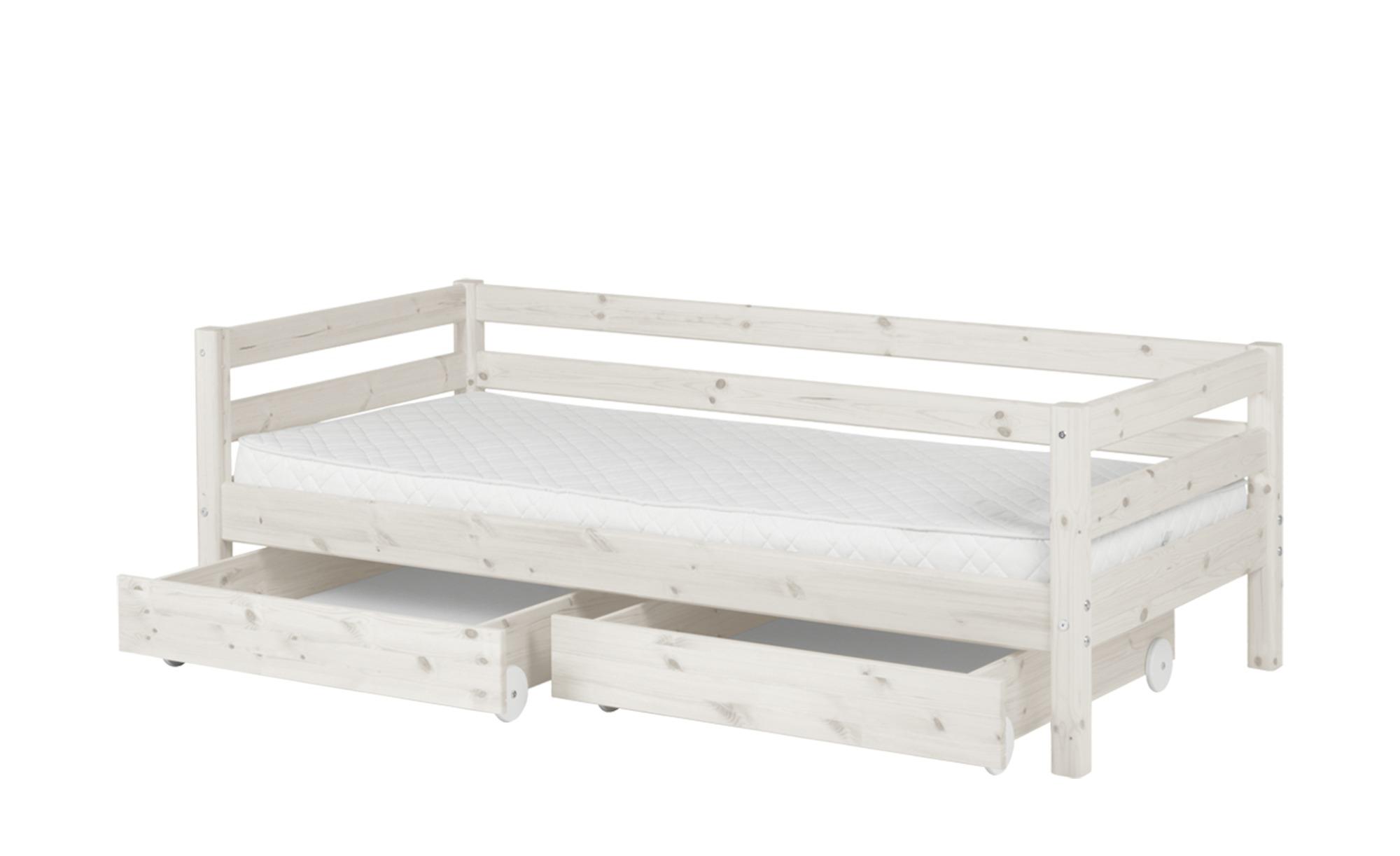 Full Size of Flexa Bett Mit 2 Schubladen 90x200 Wei Kiefer Classic Rückenlehne Amerikanisches Amerikanische Betten Tojo V Weiß Esstisch Ausziehbar Badezimmer Hochschrank Bett Bett Mit Schubladen Weiß