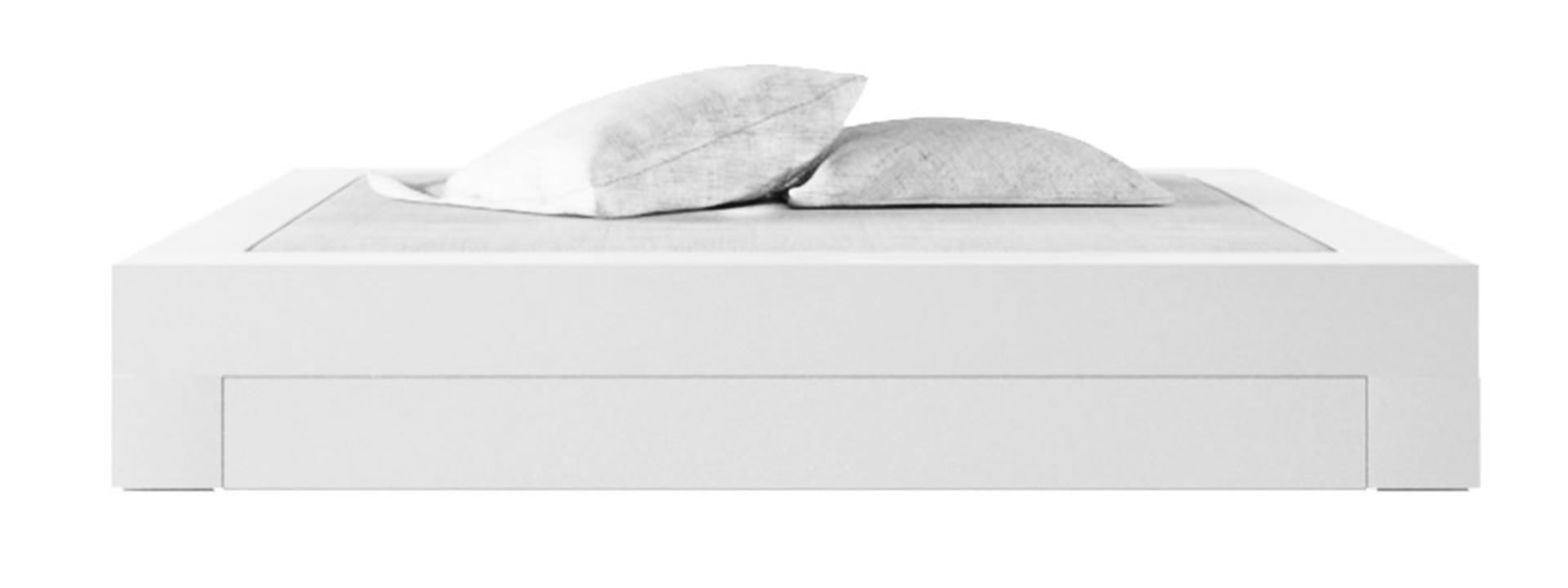Full Size of Bett Somnium Mit Bettkasten Design Von Betten 160x200 Liegehöhe 60 Cm Schwarzes Stauraum 120 Weiß L Küche Elektrogeräten Bad Kommode Hochglanz Massivholz Bett Bett Weiß Mit Schubladen