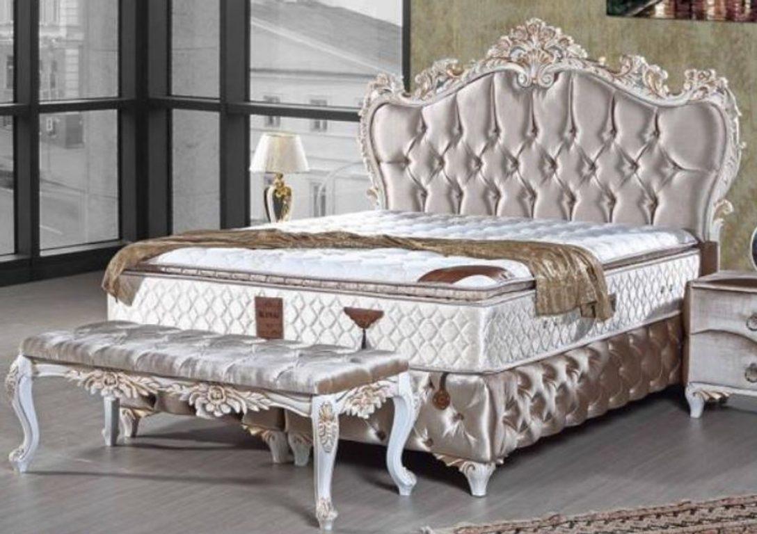 Large Size of Barock Bett Casa Padrino Doppelbett Silber Wei Gold Prunkvolles Betten Aus Holz 140x200 Sitzbank Skandinavisch Dico Mit Stauraum 160x200 200x200 Kopfteil Bett Altes Bett