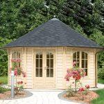Garten Pavillion Pavillon Rund Luxus Metall Holzdach Holz Gartenpavillon Aus / Metallpavillon Sun Antik Kupfer Look Holzhaus Kaufen 3x3m 3x4 Rundes Dach Garten Garten Pavillion