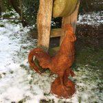 Garten Skulpturen Garten Garten Skulpturen Skulptur Beton Gartenskulpturen Holz Modern Gartendeko Moderne Aus Rostigem Eisen Stein Steinguss Groer Gockel Zur Dekoration Auf Dem Hof