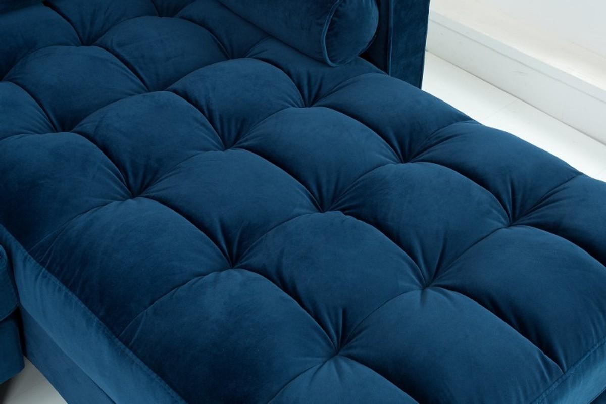 Full Size of Blaues Sofa Casa Padrino Designer Wohnzimmer Dunkelblau 260 83 H84cm Le Corbusier Tom Tailor Grau Weiß U Form Ewald Schillig Mit Led Big Kaufen 3 Teilig Sofa Blaues Sofa