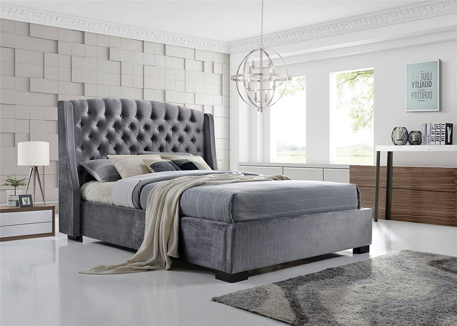 Full Size of Graues Bett Passende Wandfarbe Kombinieren Bettlaken Waschen 120x200 Ikea Brando Wing Back Chesterfield King Size Bettrahmen 5ft Bettkasten Massivholz Betten Bett Graues Bett