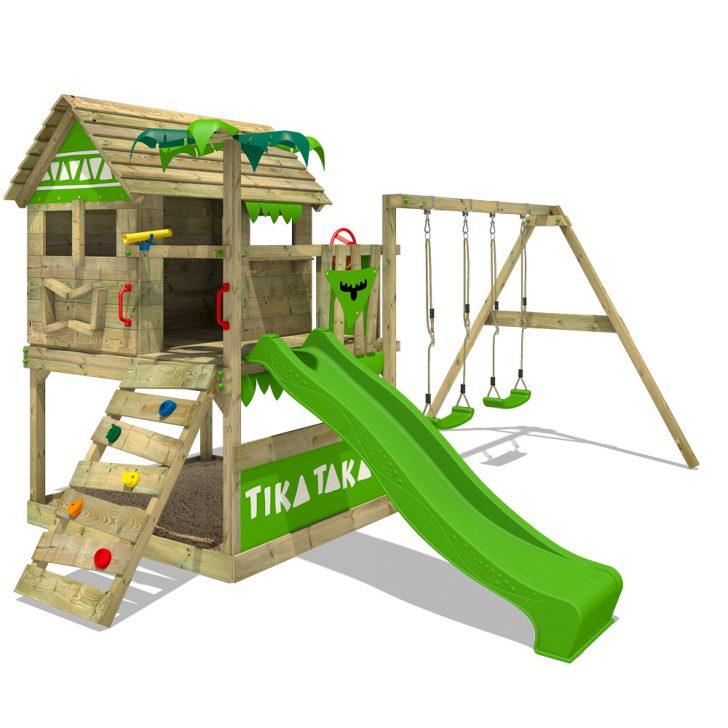 Medium Size of Kletterturm Garten Fatmoose Spielturm Tikataka Town Xxl Ausziehtisch Relaxsessel Spielhäuser Versicherung Feuerstelle Im Fussballtor Bewässerung Automatisch Garten Kletterturm Garten