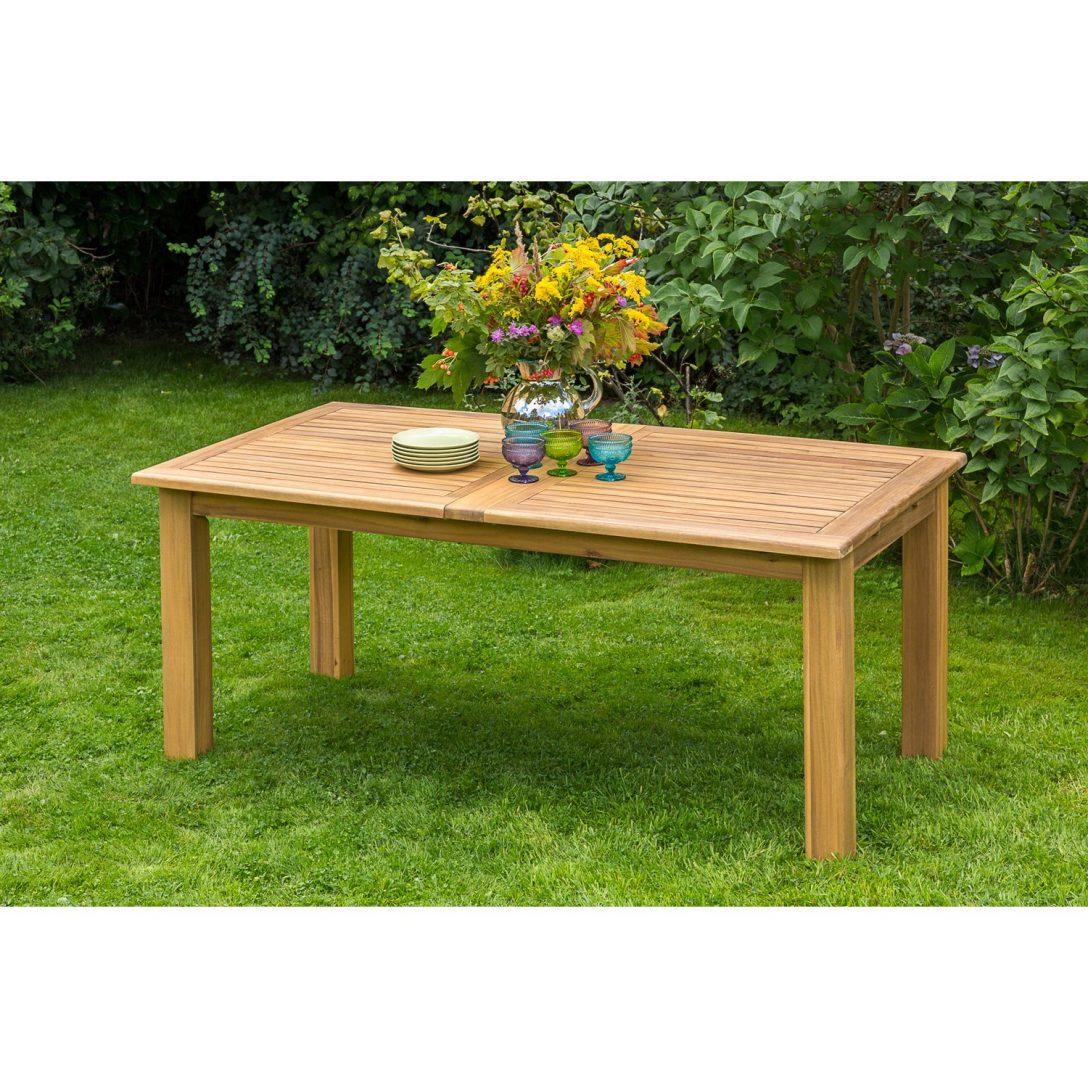 Garten Tisch Gartentisch Klappbar Wetterfest Landi Betonoptik Holz