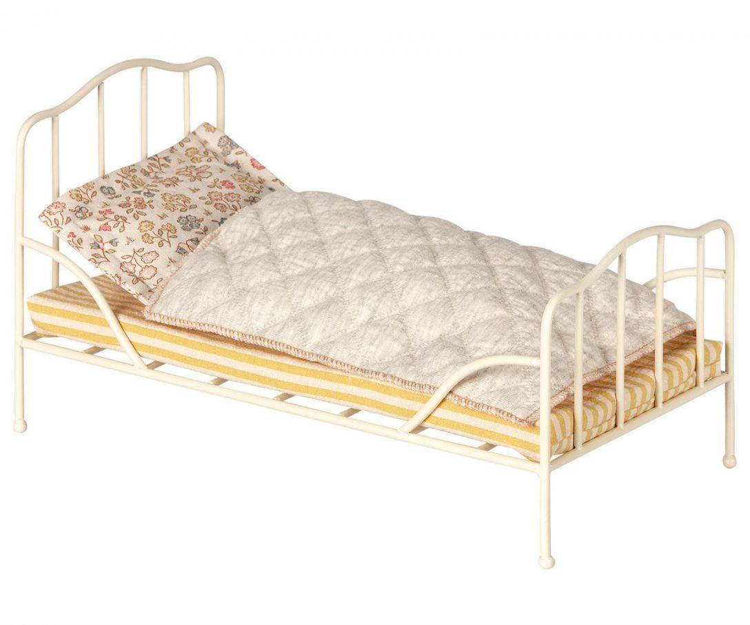 Large Size of Maileg Muse Puppenbett Bett Bed Mini Off White Mit Bettkasten 140x200 Aufbewahrung Hoch Ruf 80x200 2m X Flexa Betten Funktions Rauch Stauraum Rückenlehne Bett Bett Vintage