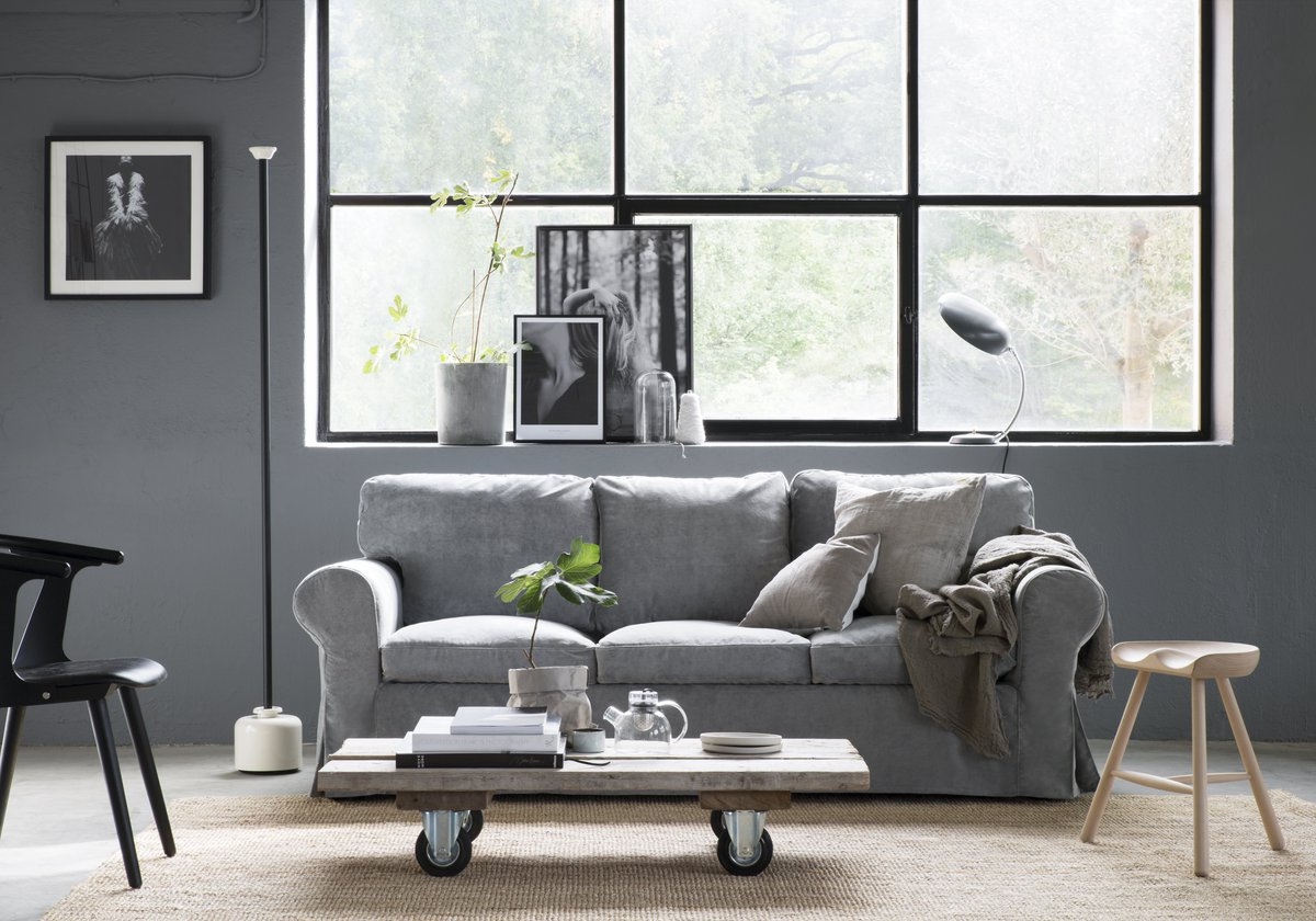 Full Size of Ektorp Sofa Review Couch With Chaise Cover Bed Uk Length Ebay Bemz On Eclectic Industrialism Featuring An Ikea Kissen Flexform Leder Benz Antik Mit Bettkasten Sofa Ektorp Sofa
