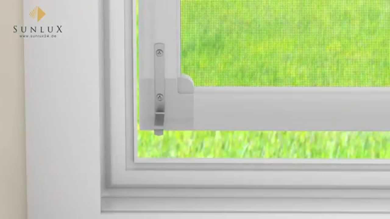 Full Size of Insektenschutz Fenster Ohne Bohren Animation Spannrahmen Montage Youtube Sicherheitsfolie Gardinen Teleskopstange Dänische Verdunkelung De Dreh Kipp Küche Fenster Insektenschutz Fenster Ohne Bohren