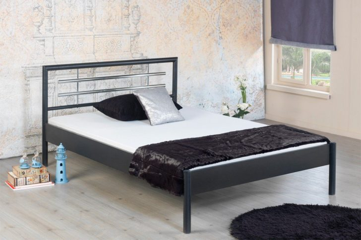 Medium Size of Bed Bomolly 1031 Bett Grau Metall 90 200 Cm Mbel Letz Ihr 1 40x2 00 Massiv 180x200 200x220 Designer Betten Möbel Boss Schlafzimmer Set Mit Boxspringbett Bett Graues Bett