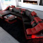 Luxus Sofa Sofa Luxus Sofa Leder Wohnlandschaft Kln Cl In Schwarz Rot Vadano Sofas Bei Amazon Barock Lederpflege Big Reiniger Hay Mags Marken Rattan Garten Gelb Home Affaire