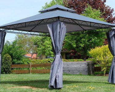 Garten Pavillion Garten Garten Pavillon 3x3 Zelt Holz Glas 3x3m Pavillion Rund Eleganter Meter Led Spot Zeitschrift Beistelltisch Lounge Möbel Bewässerungssystem Spielhaus