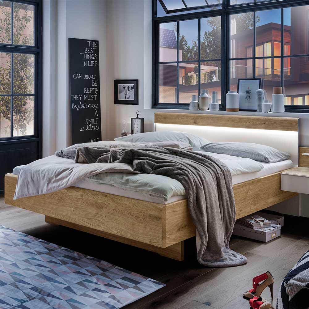 Full Size of Modernes Bett Mit Kopfteil Beleuchtet In Wei Eichefarben Icena 90x200 Stauraum 160x200 Lattenrost Und Matratze Selber Bauen Betten Ohne 180x200 Düsseldorf Bett Modernes Bett