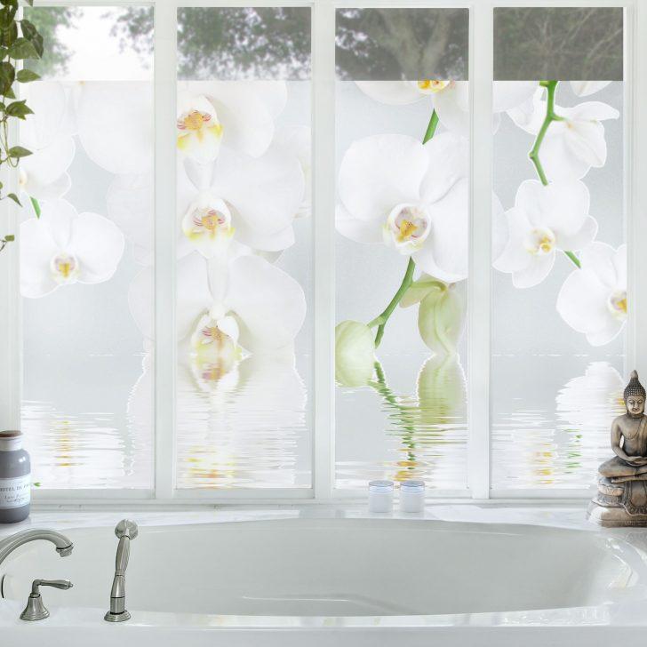 Medium Size of Sichtschutzfolien Für Fenster Orchideenbild Fensterfolie Sichtschutz Wellness Orchidee Plissee Beleuchtung Putzen Insektenschutz Auf Maß Nach Standardmaße Fenster Sichtschutzfolien Für Fenster