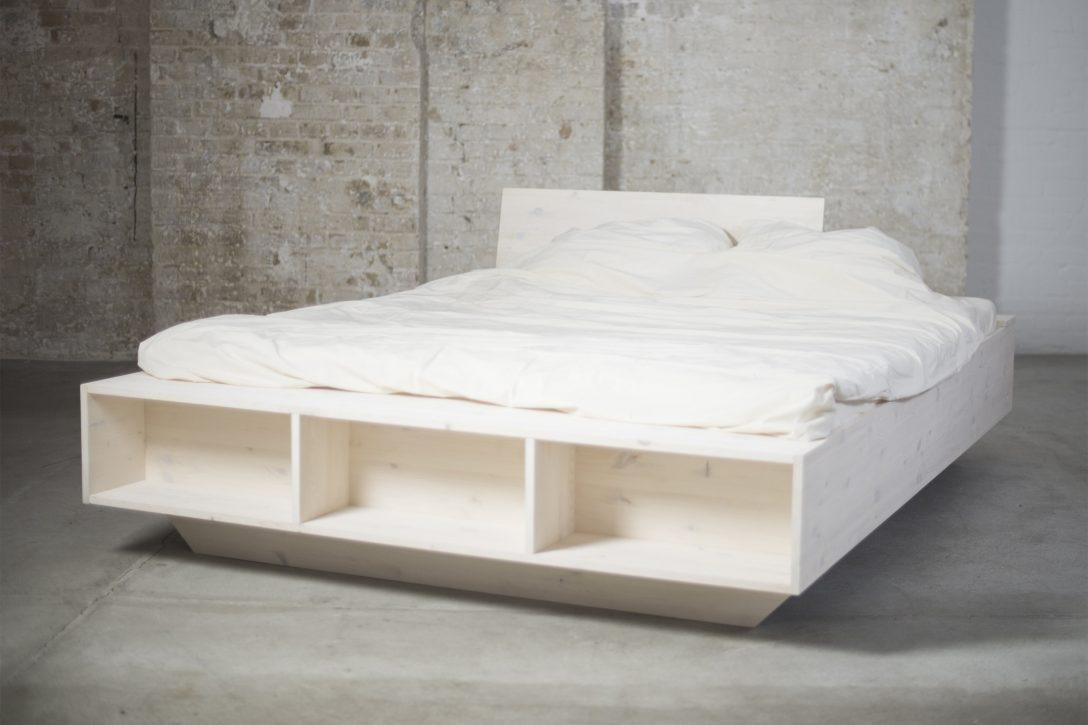 Large Size of Design Solid Wood Bed With Style And Storage Space Organic Runde Betten Jensen Bett Mit Rutsche Gästebett Poco 200x200 Komforthöhe Chesterfield Romantisches Bett Bett 1.40